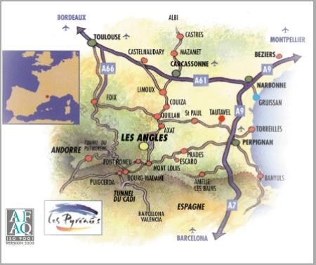 map Les Angles