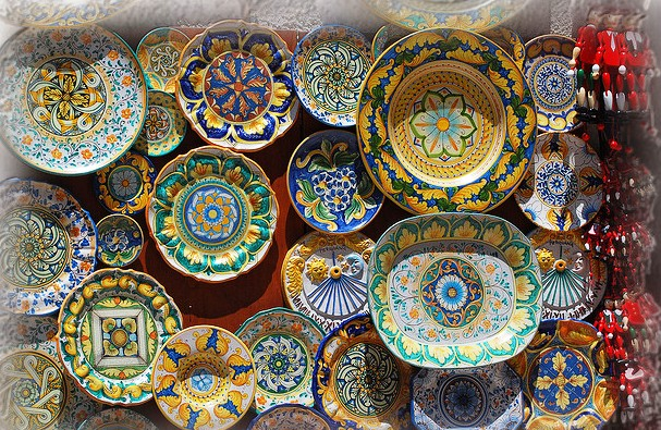 Handmare ceramics from Umbria