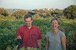 Amy & Matt in vineyard