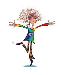 crazy hair woman