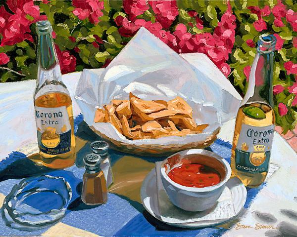 Cervesa y nachos