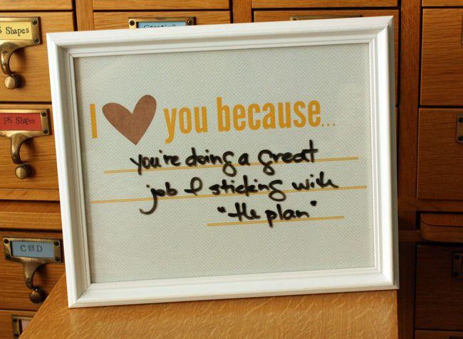 I love you because: Daily Log