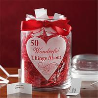 50 things you love about your valentine in a jar