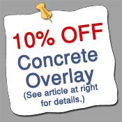 10% discount on concrete overlays