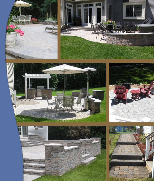 photo collage of patios by Bahler brothers