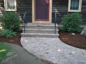 concrete overlay of front porch