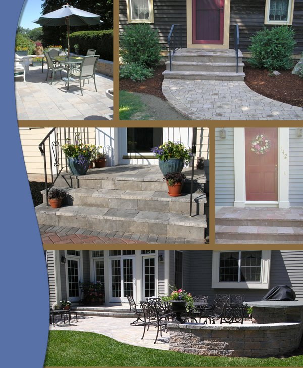 collage of concrete overlay porjects by bahler brothers