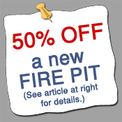50% off Fire Pit offer