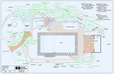 landscape plan for pool patio
