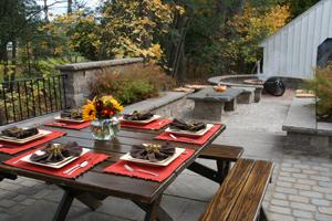 multi-level patio set for fall