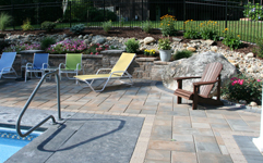 paver pool patio and retaining wall project