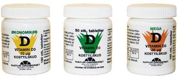 tilskud af d vitamin