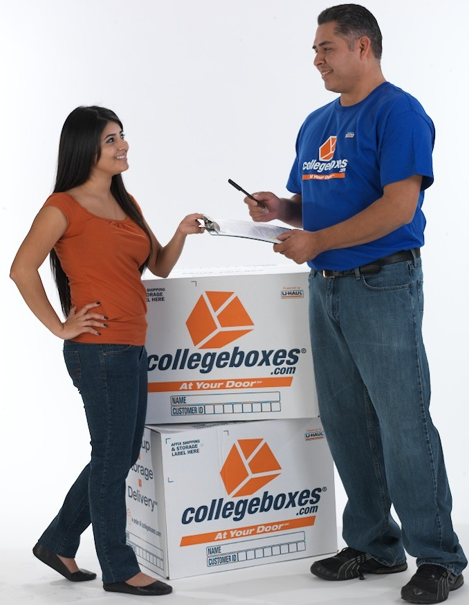 Before returning to campus, update your delivery information using your collegeboxes account.  We delivery all your storage items back to your room