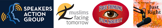Presented by Speakers Action Group, Muslims Facing Tomorrow, Free Thinking Film Society, Just Right