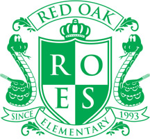 Red Oak Crest Logo Green