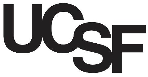 UCSF logo black letters only