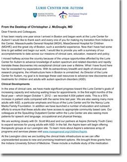 Chris McDougle Letter