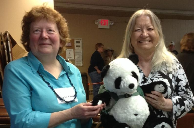 librarians with Perkins panda