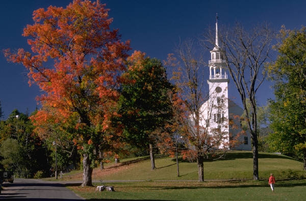 picture of Vermont building on the fall