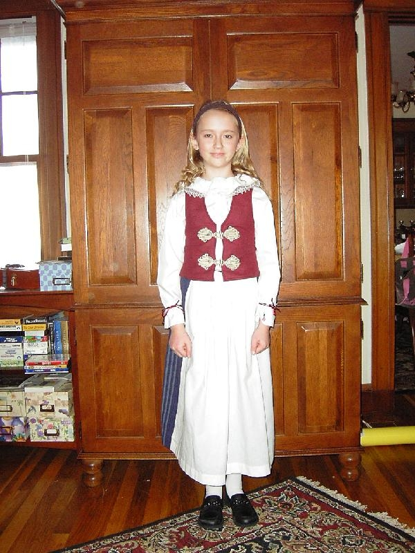 Amelia in Finnish Costume Front View