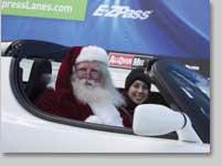 Santa takes HOT lanes