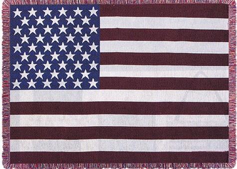 US Flag Throw