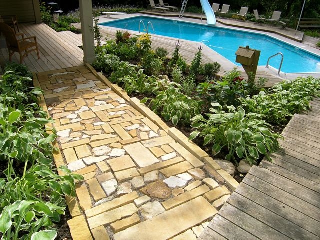 Stone Walkway by Heidi's Lifestyle Gardens
