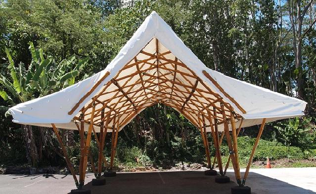 Pelton, bamboo shelter