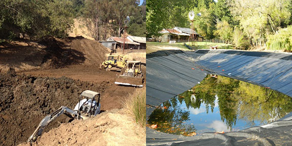 Before and after constructionProject