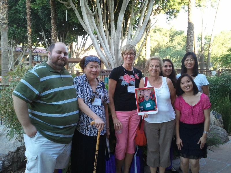 Janet Ty and some members of her Las Vegas choir at Expedition Handbells