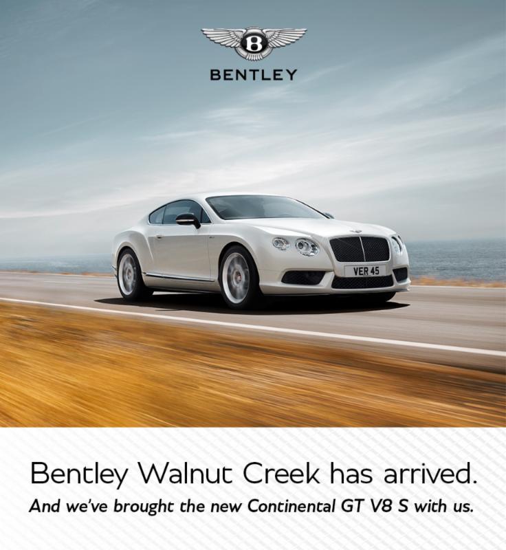 Bentley Walnut Creek has arrived.