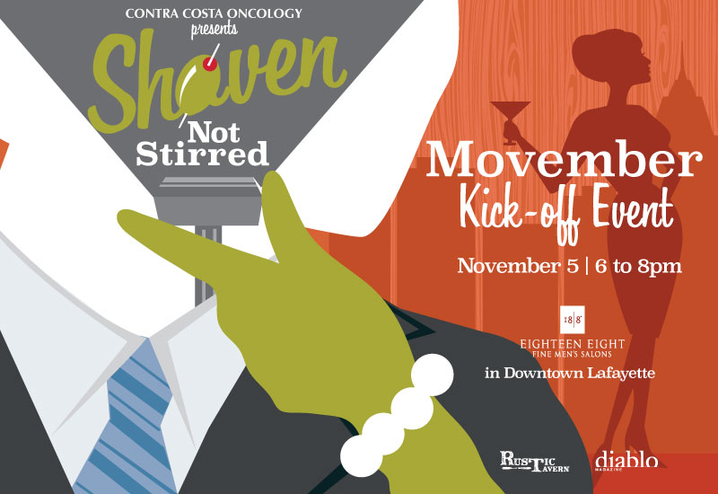 Shaven Not Stirred on November 5 presented by Contra Costa Oncology