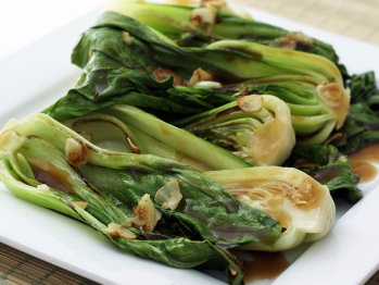 Stir Fried Baby Bok Choy with Ginger