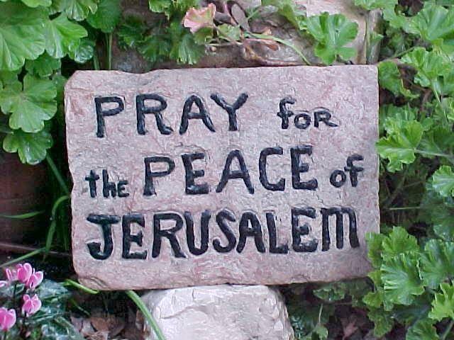 Prier pour la paix de Jérusalem
