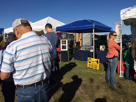 Majors booth at the Jay Peanut Festival.
