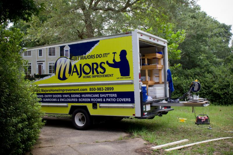 Majors Home Improvement truck