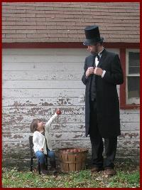 Dale Blanshan as Abraham Lincoln