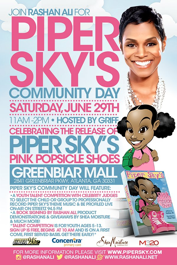 Piper Sky Community Day Flyer