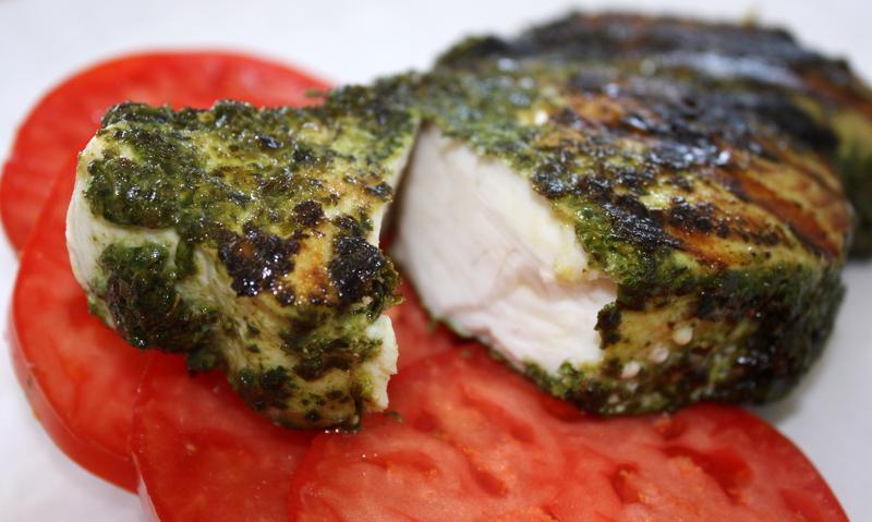 Pesto crusted ono wahoooo for Pesto fish recipes