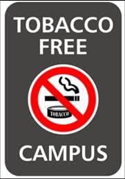 Tobacco Free Campus Sign
