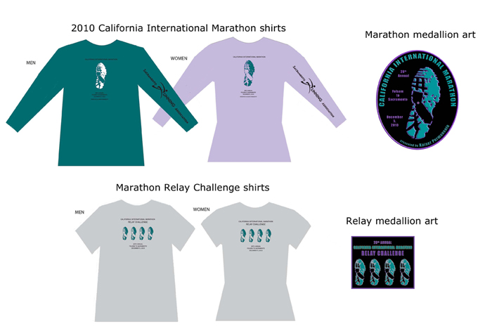 2010 CIM shirts and medals