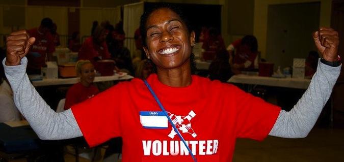 Smiling Volunteer