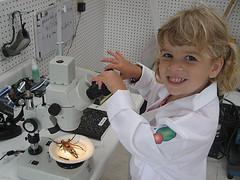 Scientist Abby with Tarantula