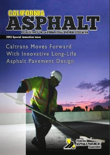 2013 California Asphalt Magazine cover