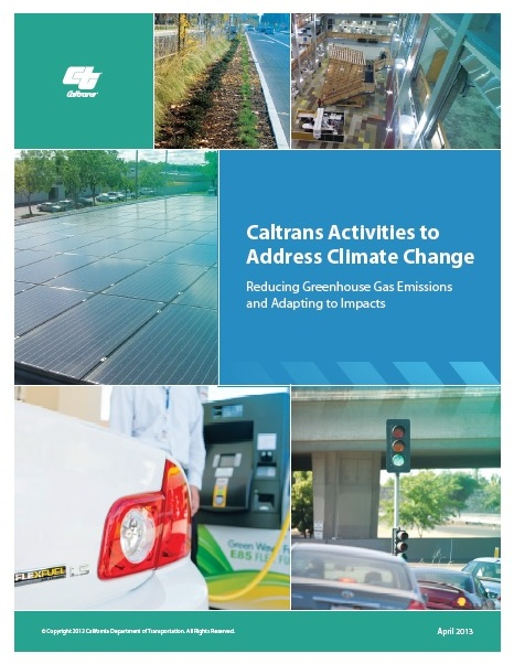 Caltrans climate report cover