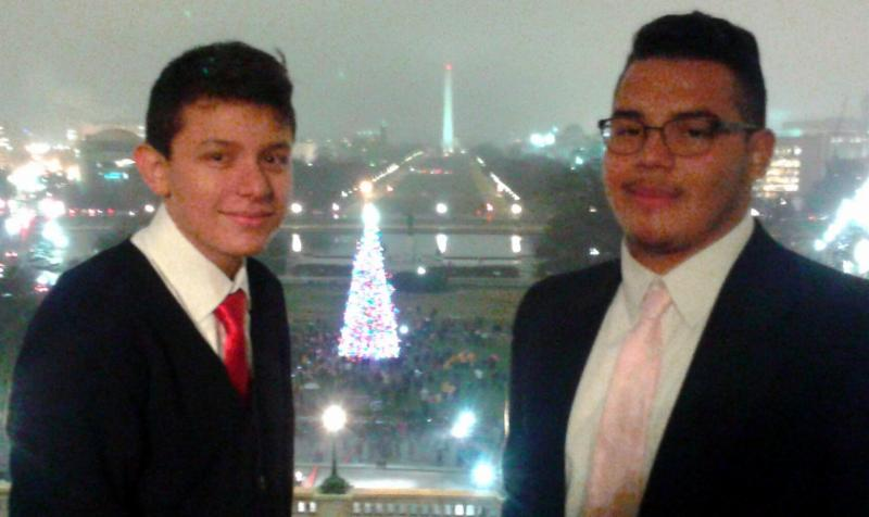 5 specially selected students attend Capitol Christmas tree lighting.