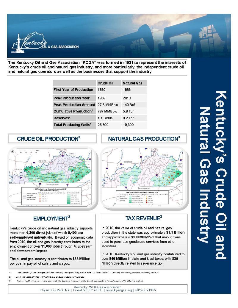 2013 KOGA fact sheet image