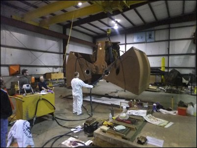 E-Crane USA Service & Parts Dept. has been re-manufacturing a clamshell grab for Sherwin Alumina.