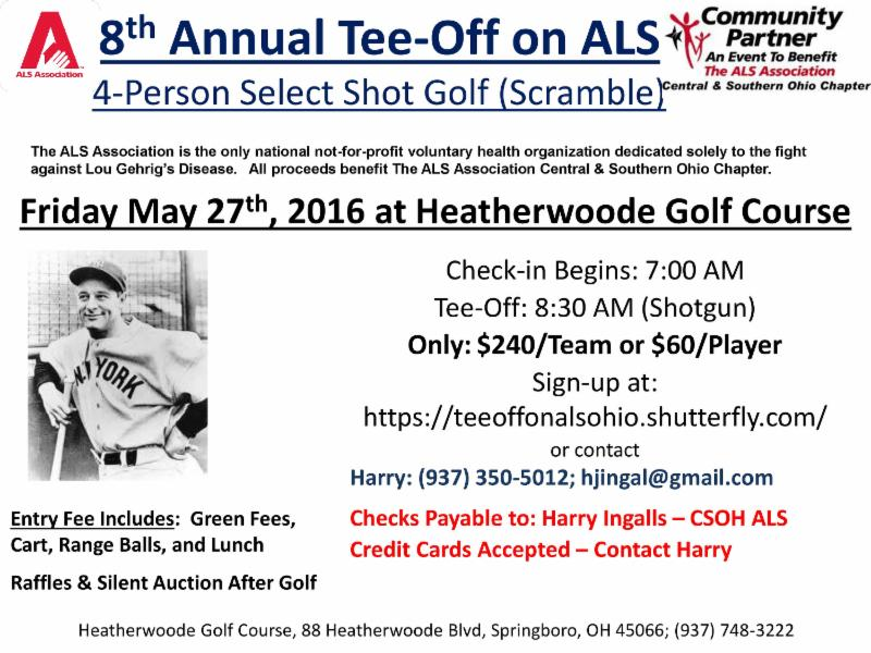 8th Annual Tee-Off on ALS Golf Outing at Heatherwoode Golf Course