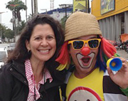 Melissa Block and street clown